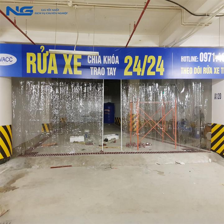Rèm nhựa pvc cho phòng rửa xe